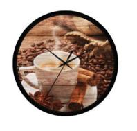 kávé csészsés falióra